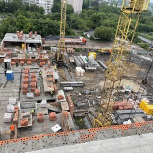 Капитальне будівництво зовнішніх стін досягло 3-го фактичного поверха