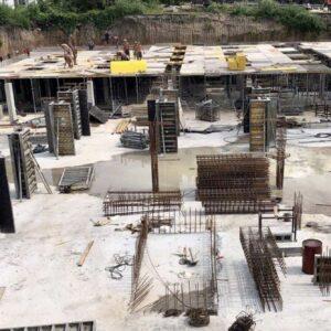 підготовка до бетонування першої частини перекриття