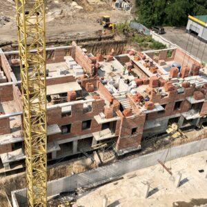 Капітальне будівництво зовнішніх стін 3-го фактичного