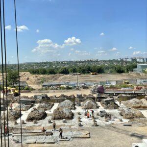 Розпочали будівництво секції №5. Провели фундаментні роботи перейшли до ростверку